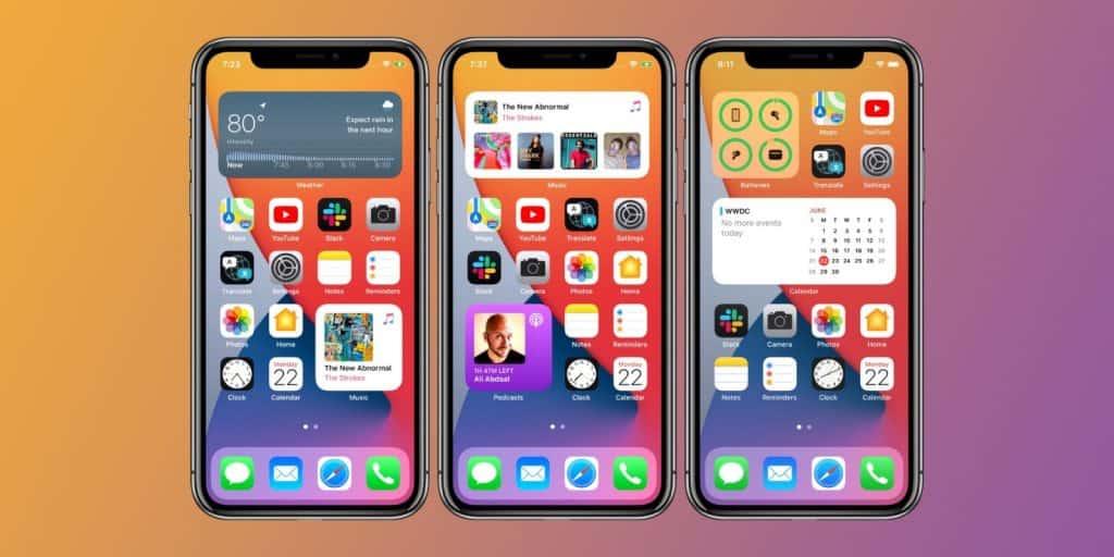 iOS14 iPhone Homescreen