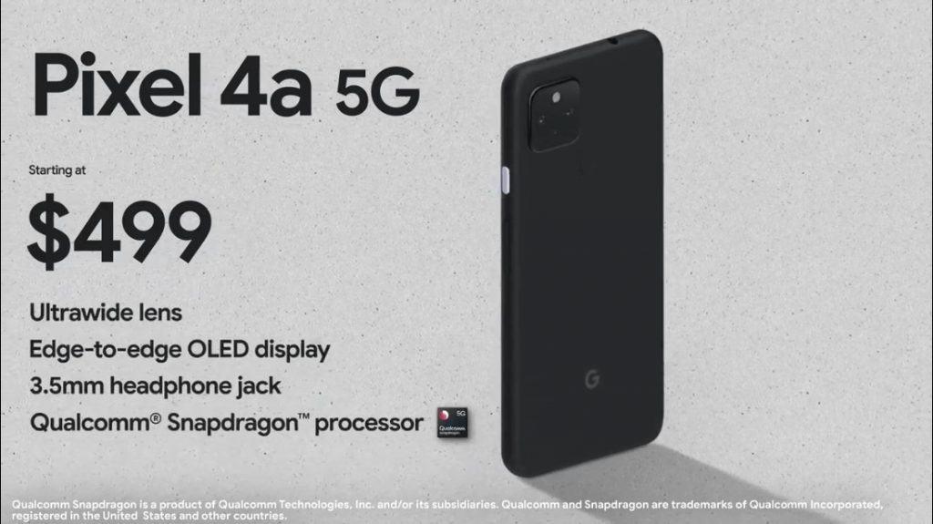 Pixel 4a 5G 售價為$499美元,大概係港幣$3,867