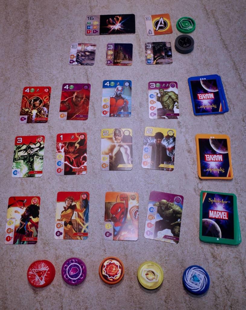 Splendor璀璨寶石-Marvel版:遊戲設定