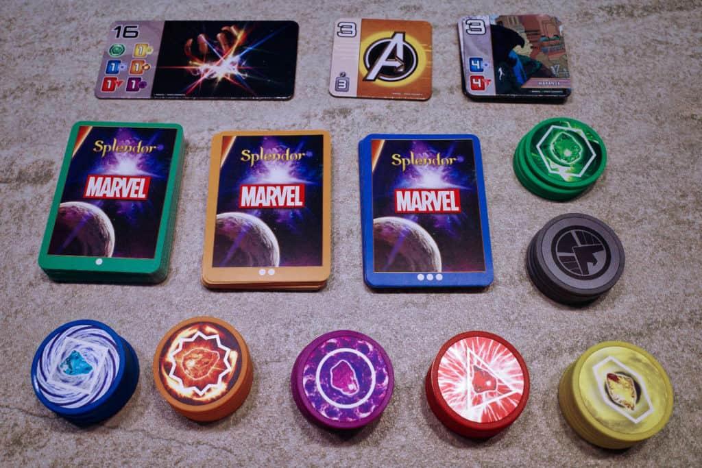 Splendor璀璨寶石-Marvel版:所有道具