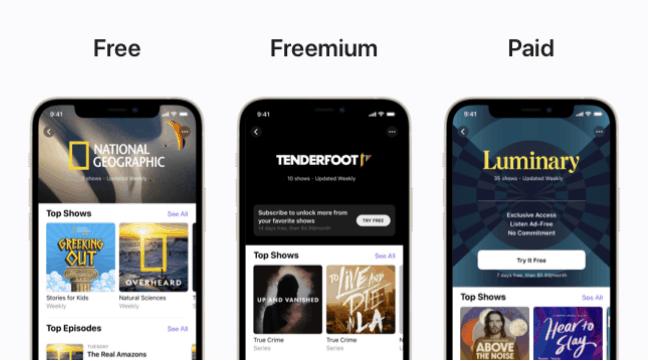 Podcast App更新: 新訂閱功能