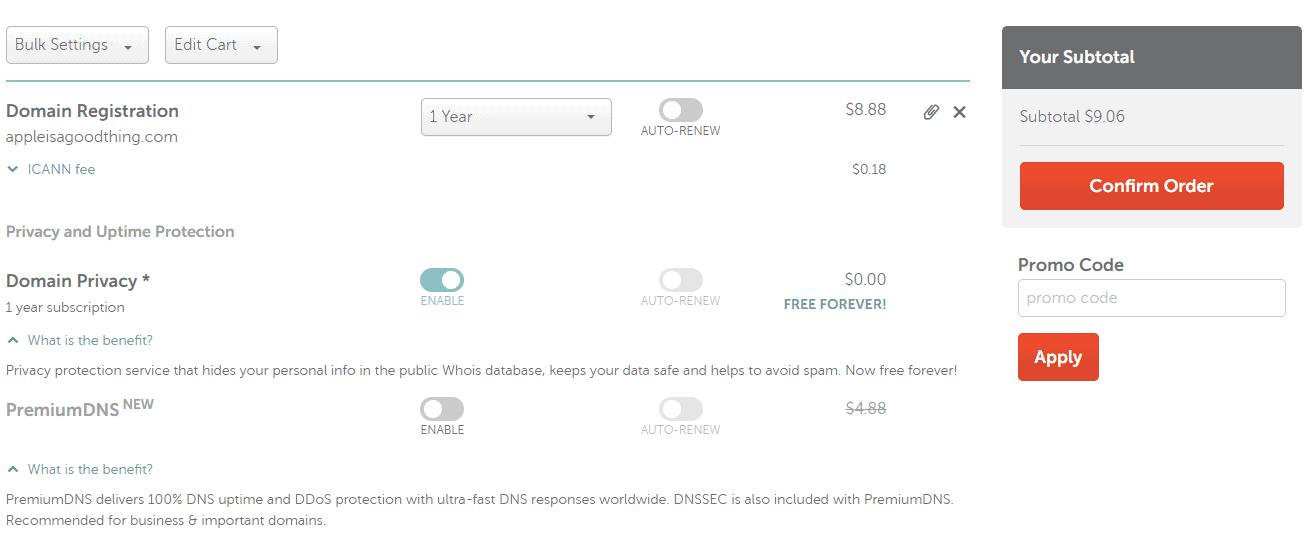 建議Namecheap購買網域